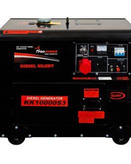 KK10000S- Diesel Silent Generator 8Kw (10Kva) 16Lt 380V (3-phase)